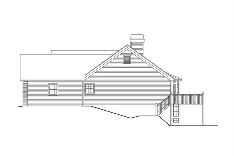 138-1096: Home Plan Right Elevation