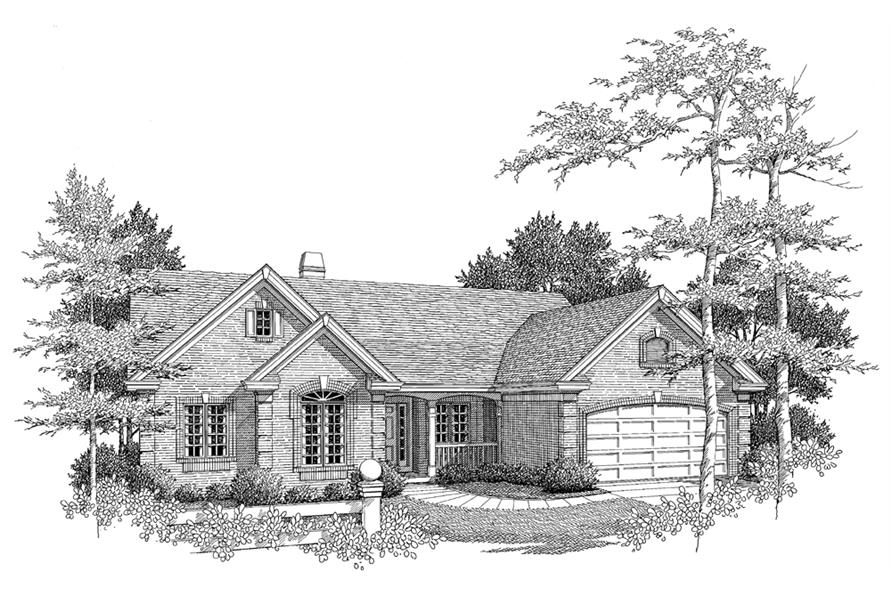 138-1096: Home Plan Rendering