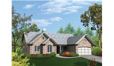 Front elevation of Ranch home (ThePlanCollection: House Plan #138-1096)
