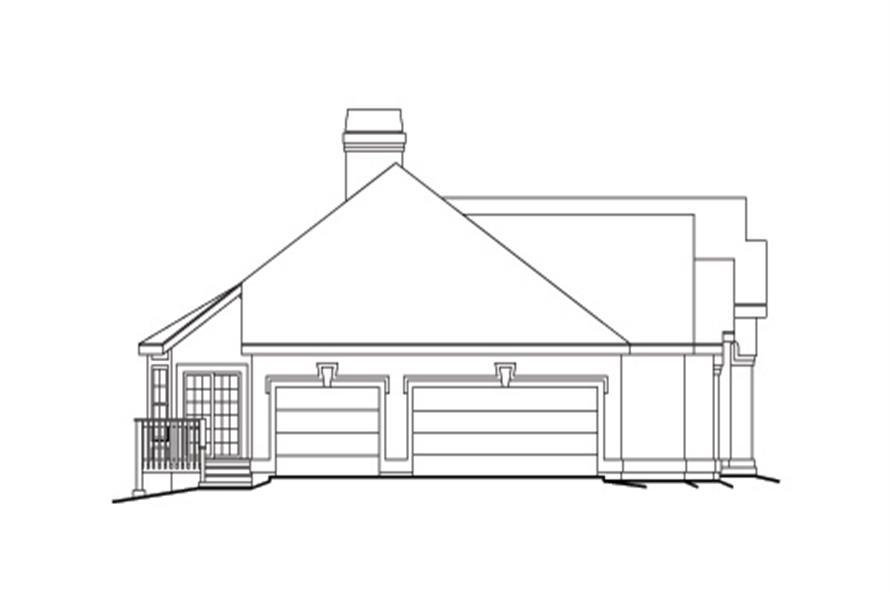 138-1097: Home Plan Left Elevation