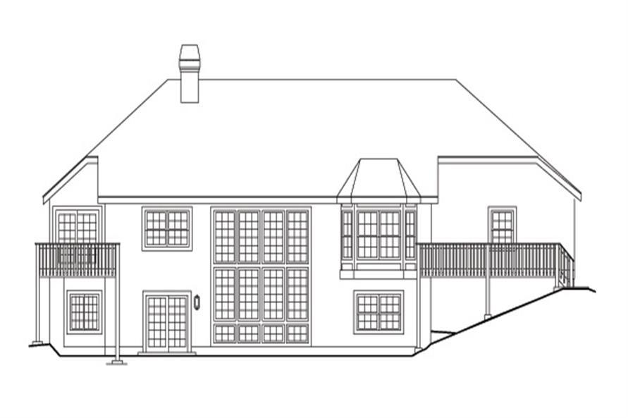138-1097: Home Plan Rear Elevation