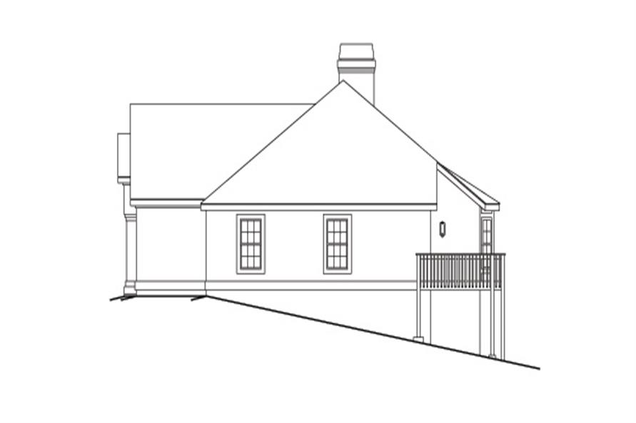 138-1097: Home Plan Right Elevation