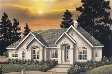 4-Bedroom, 3342 Sq Ft Ranch House Plan - 138-1097 - Front Exterior