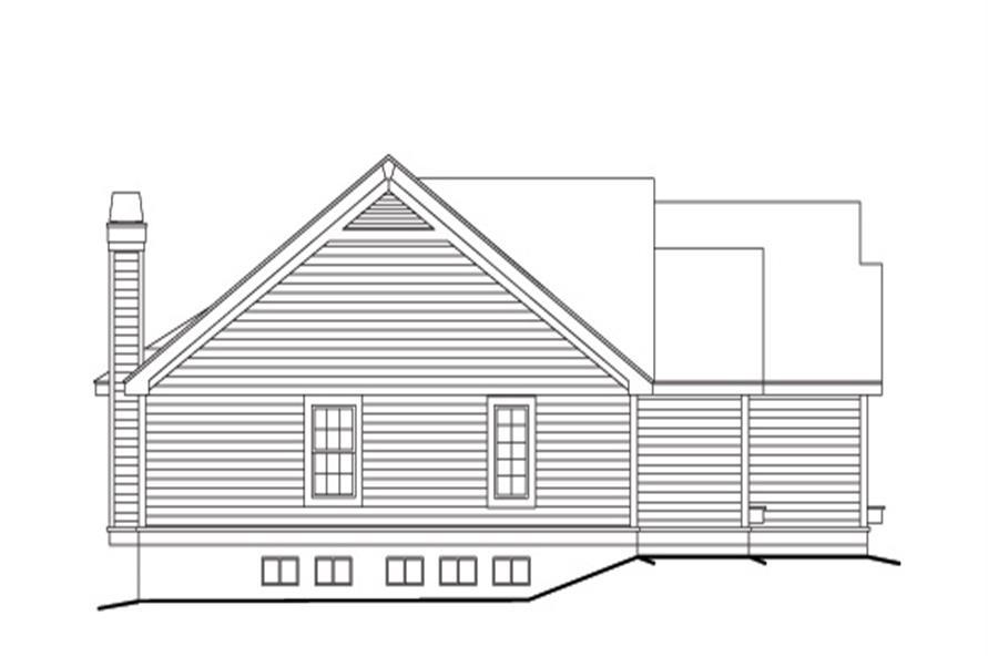 138-1098: Home Plan Left Elevation