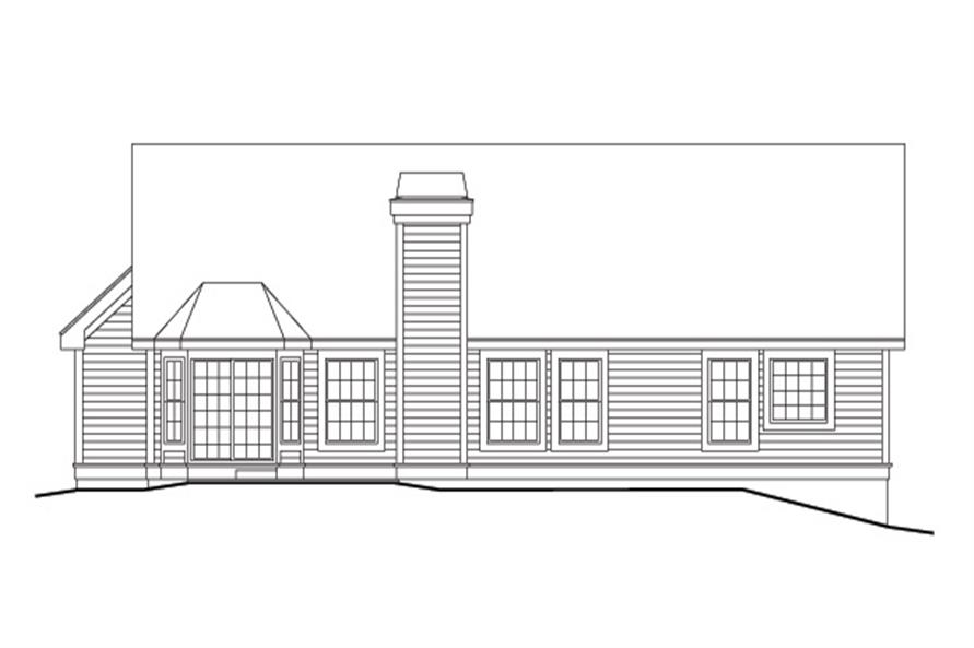 138-1098: Home Plan Rear Elevation