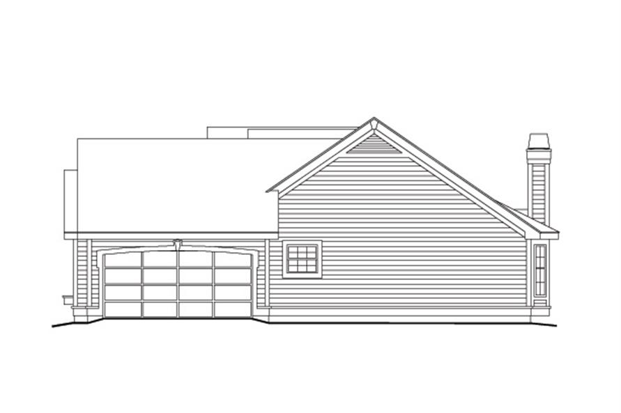 138-1098: Home Plan Right Elevation