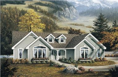 4-Bedroom, 1761 Sq Ft Ranch House Plan - 138-1098 - Front Exterior