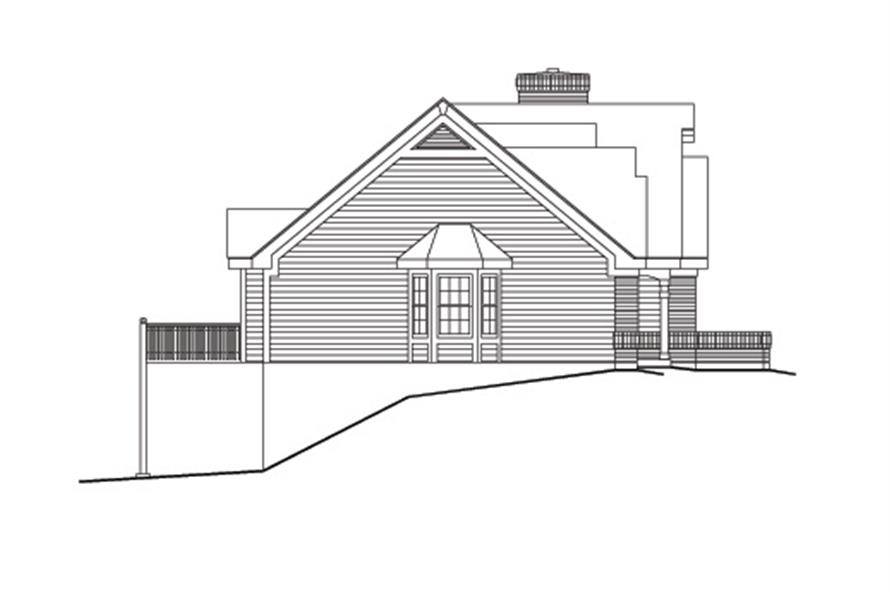 138-1099: Home Plan Left Elevation
