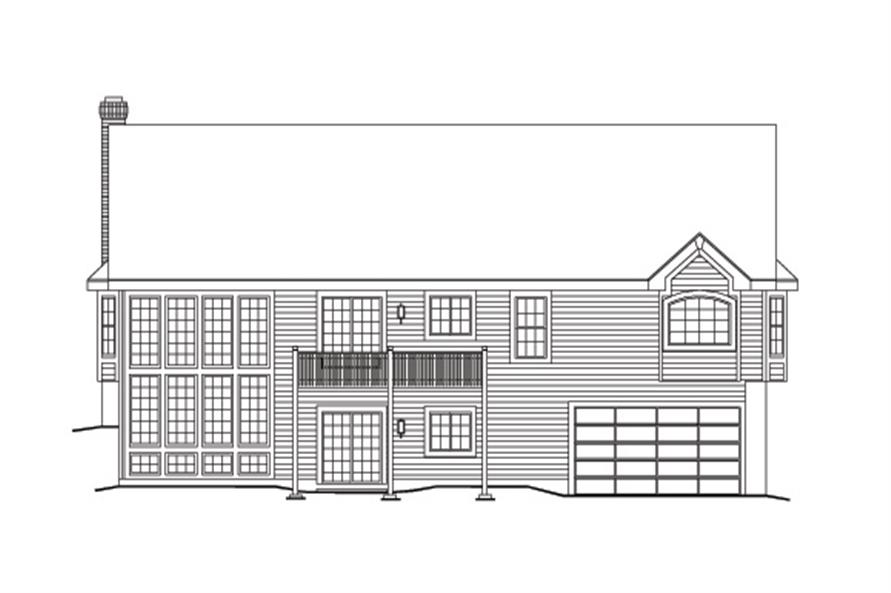 138-1099: Home Plan Rear Elevation