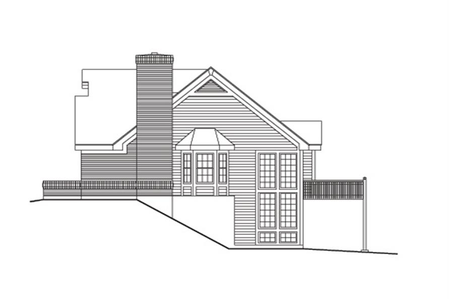 138-1099: Home Plan Right Elevation