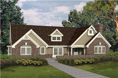 3-Bedroom, 2913 Sq Ft Ranch House Plan - 138-1099 - Front Exterior