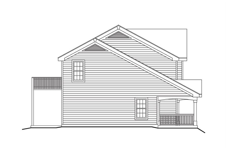 138-1100: Home Plan Left Elevation