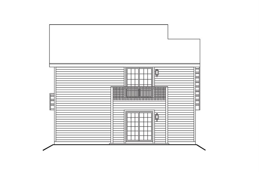 138-1100: Home Plan Rear Elevation