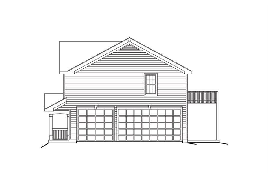 138-1100: Home Plan Right Elevation