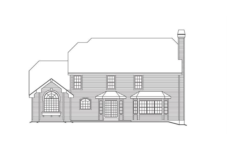 138-1101: Home Plan Rear Elevation