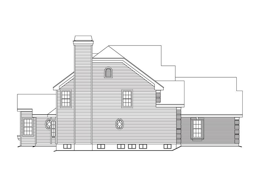 138-1101: Home Plan Left Elevation