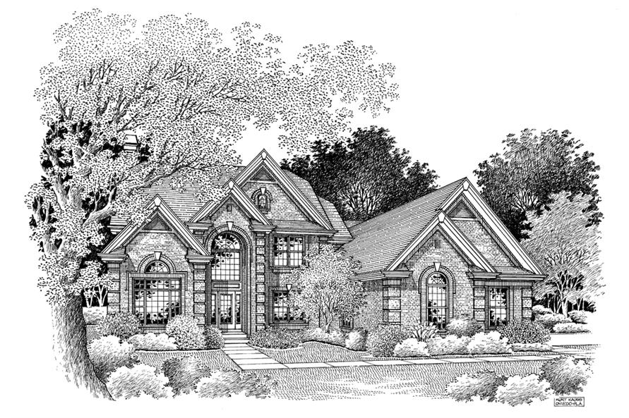 138-1101: Home Plan Rendering
