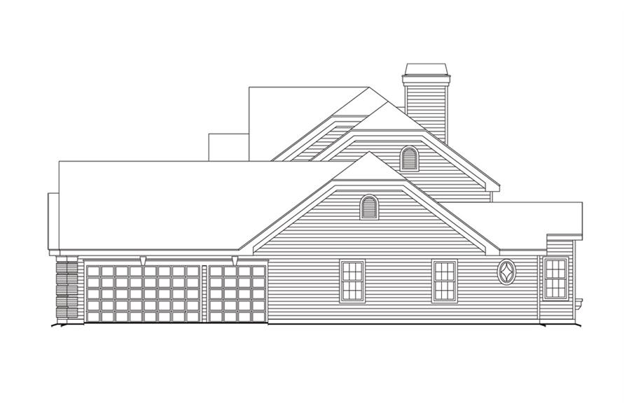 138-1101: Home Plan Right Elevation