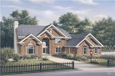 4-Bedroom, 3657 Sq Ft Traditional House Plan - 138-1101 - Front Exterior