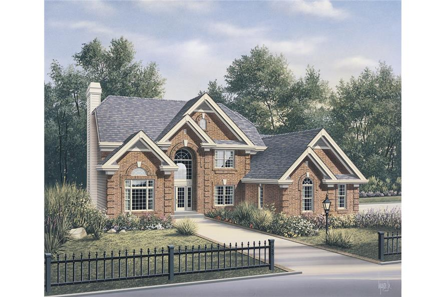 Front elevation of Traditional home (ThePlanCollection: House Plan #138-1101)