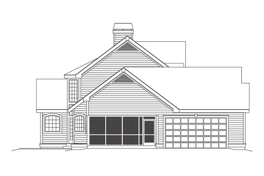 138-1102: Home Plan Left Elevation