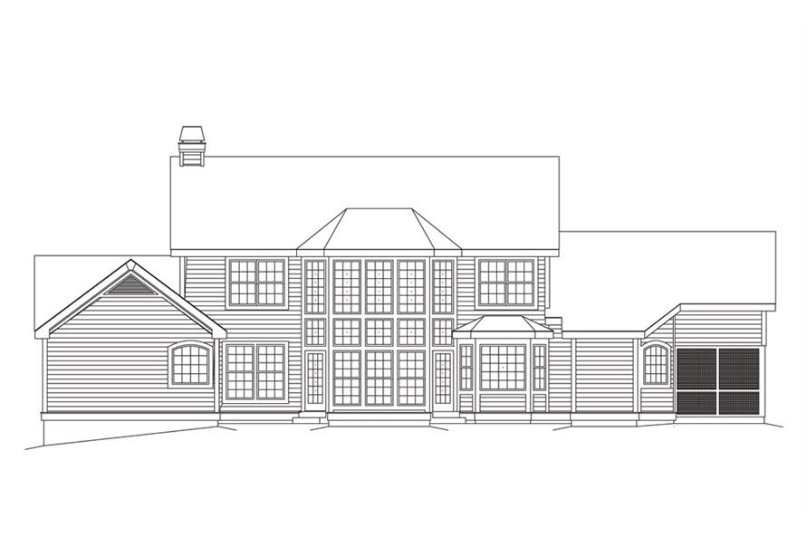 138-1102: Home Plan Rear Elevation