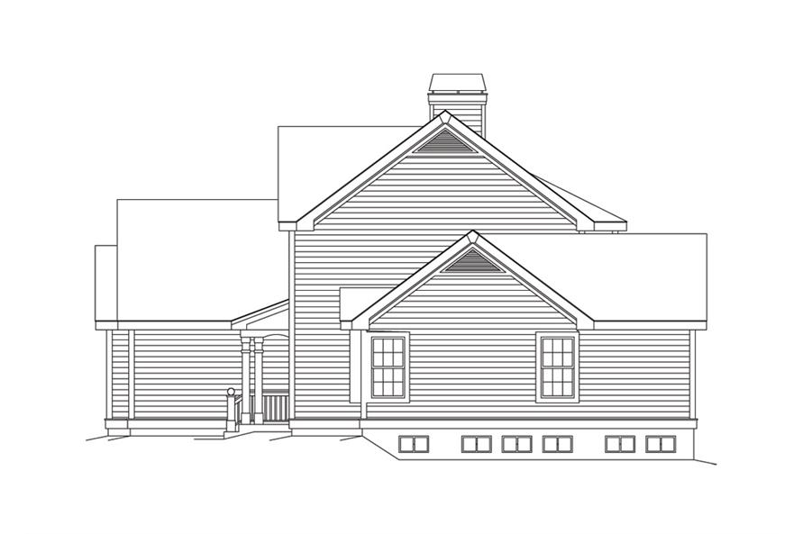 138-1102: Home Plan Right Elevation