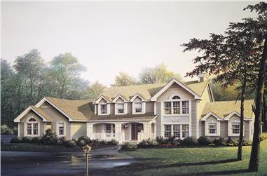 4-Bedroom, 2724 Sq Ft Traditional House Plan - 138-1102 - Front Exterior
