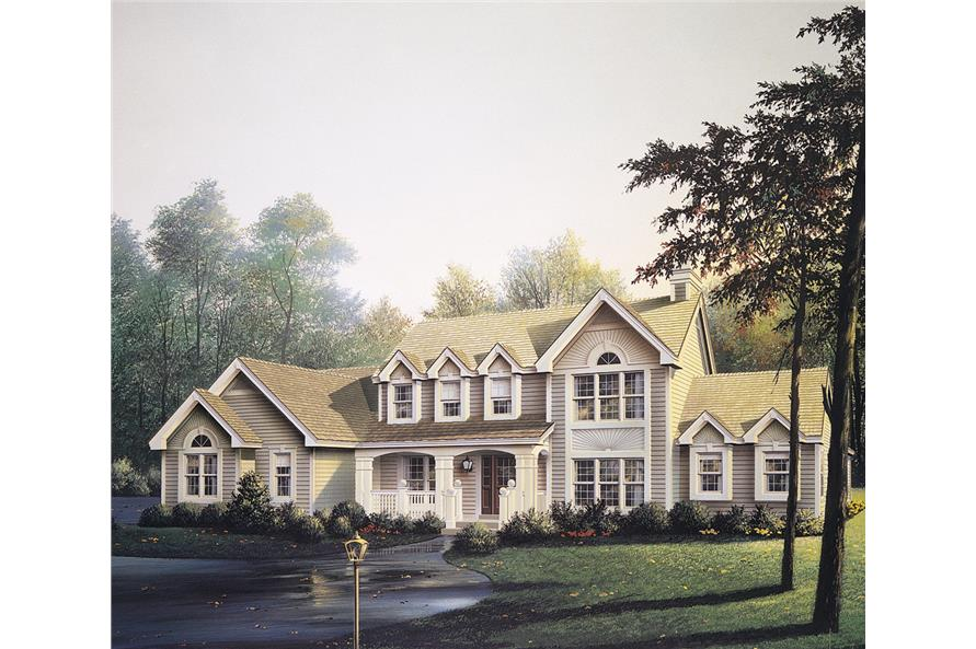 Front elevation of Traditional home (ThePlanCollection: House Plan #138-1102)