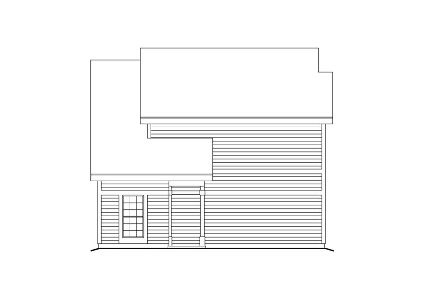 138-1103: Home Plan Left Elevation