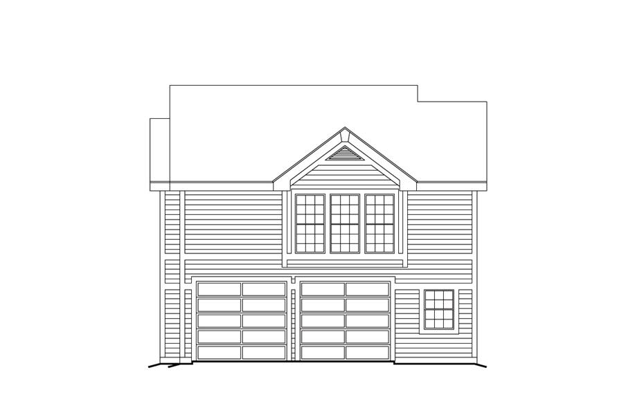 138-1103: Home Plan Right Elevation