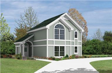 1-Bedroom, 891 Sq Ft Garage w/Apartments House Plan - 138-1103 - Front Exterior