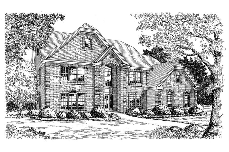 Home Plan Rendering of this 6-Bedroom,4269 Sq Ft Plan -138-1104
