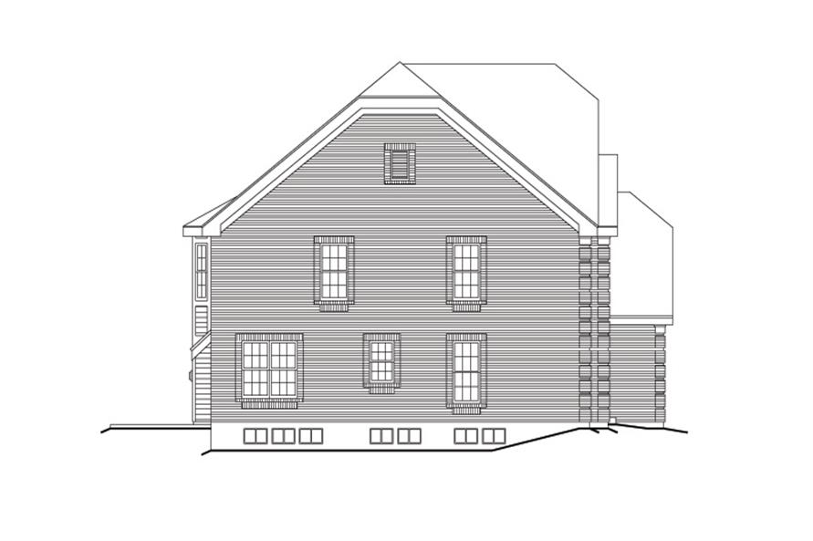 Home Plan Left Elevation of this 6-Bedroom,4269 Sq Ft Plan -138-1104