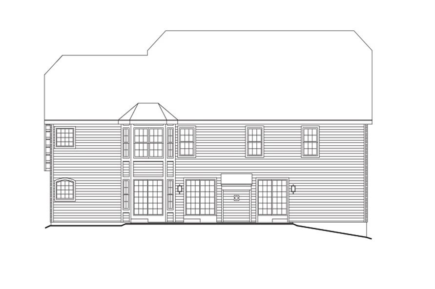 Home Plan Rear Elevation of this 6-Bedroom,4269 Sq Ft Plan -138-1104