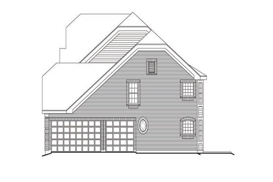 138-1104: Home Plan Right Elevation
