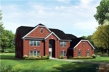 6-Bedroom, 4269 Sq Ft Farmhouse House - Plan #138-1104 - Front Exterior