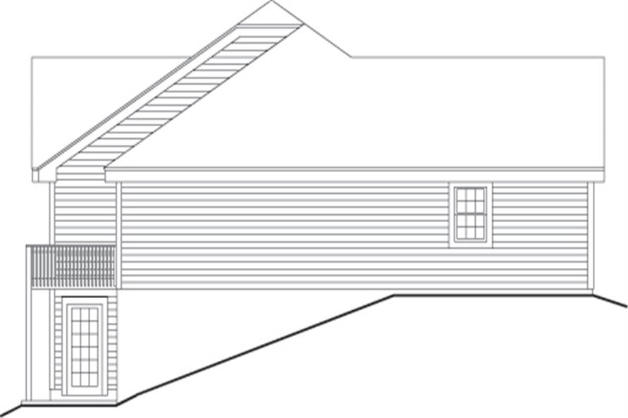 Home Plan Left Elevation of this 3-Bedroom,3484 Sq Ft Plan -138-1105