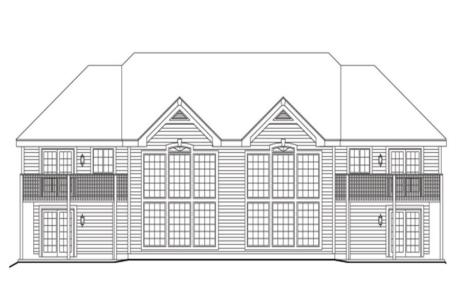 138-1105: Home Plan Rear Elevation