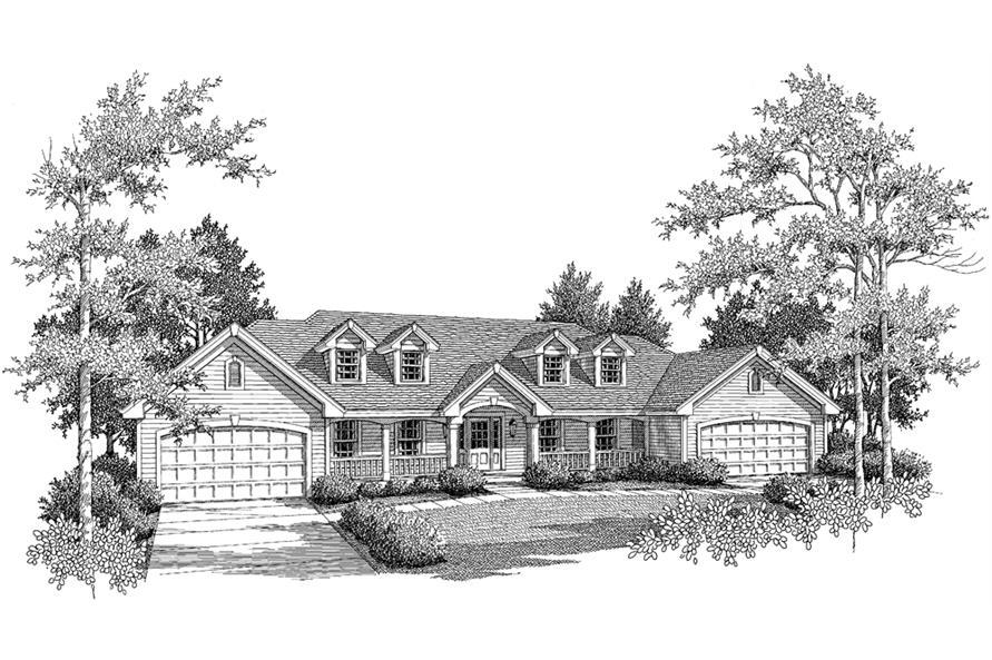 Home Plan Rendering of this 3-Bedroom,3484 Sq Ft Plan -3484