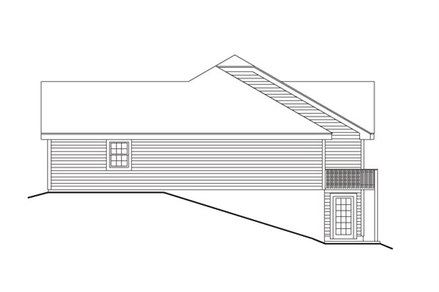 Home Plan Right Elevation of this 3-Bedroom,3484 Sq Ft Plan -138-1105