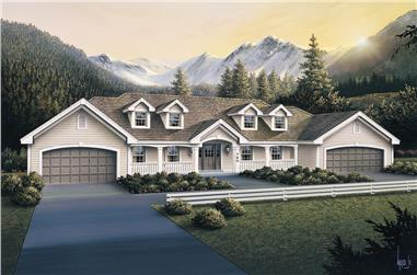 3-Bedroom, 3484 Sq Ft Multi-Unit Home Plan - 138-1105 - Main Exterior
