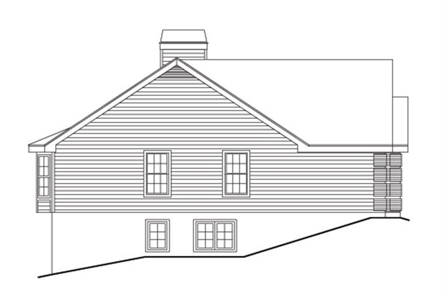 138-1106: Home Plan Left Elevation