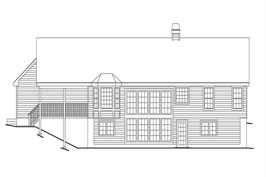 138-1106: Home Plan Rear Elevation