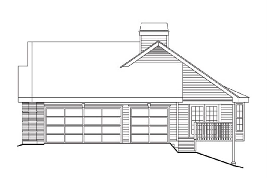 138-1106: Home Plan Right Elevation