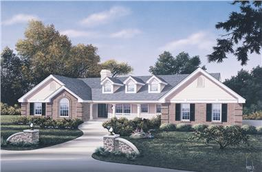 Front elevation of Traditional home (ThePlanCollection: House Plan #138-1106)