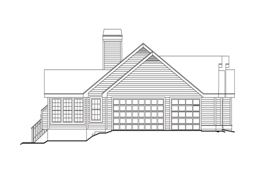 138-1107: Home Plan Left Elevation