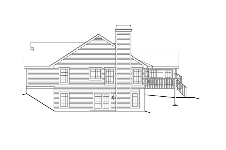 138-1107: Home Plan Right Elevation