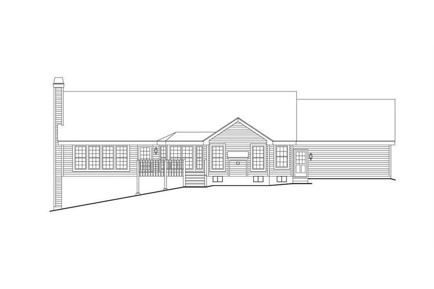 138-1107: Home Plan Rear Elevation