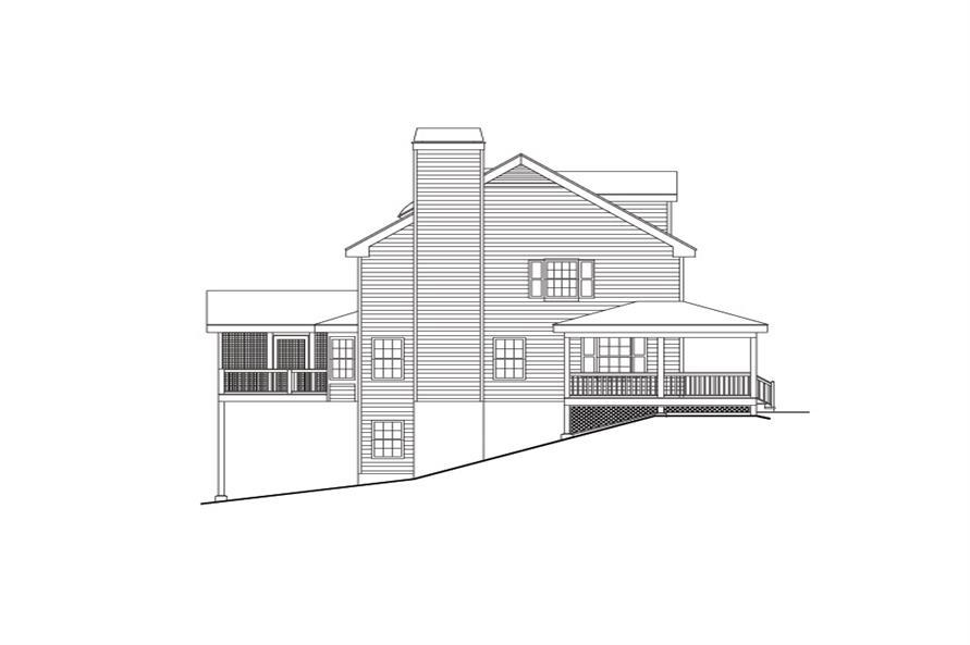 138-1108: Home Plan Left Elevation